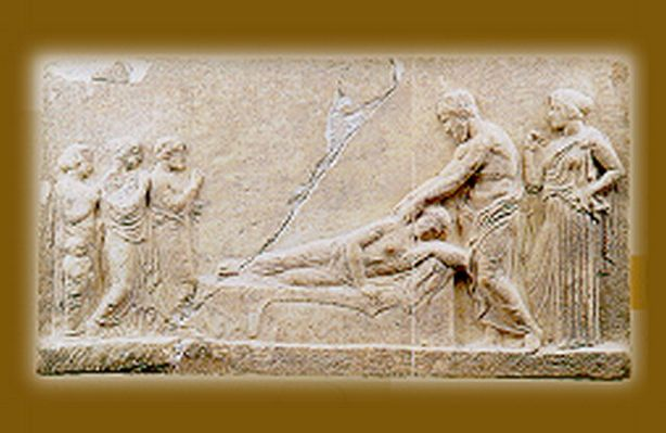 Dedicatory relief to Asklepios
