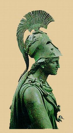 bronze statue of Athena